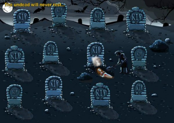 Casino Codes - Select a grave to dig up and revael a prize.