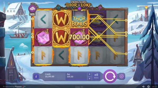 Viking Gods Thor and Loki by Casino Codes