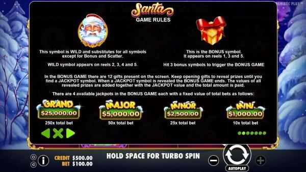 Casino Codes image of Santa