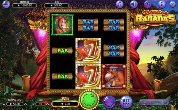 Main game board featuring three reels and 10 paylines with a $38,500 max payout. - Casino Codes