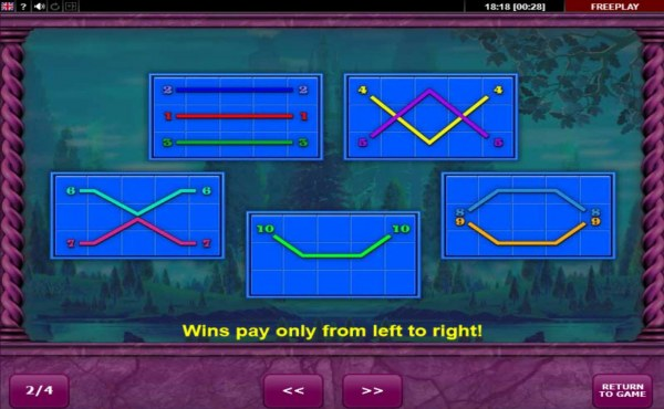 Paylines 1-10 - Casino Codes