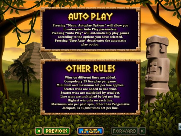 General Game Rules - Maximum win per paid spin is 50,000 times bet per line. by Casino Codes