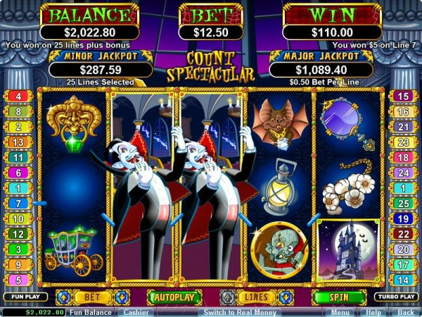 Casino Codes image of Count Spectacular