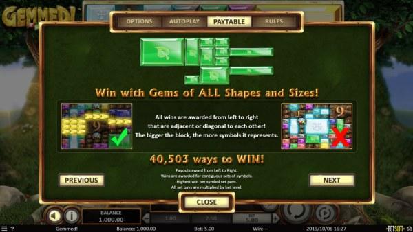 Gemmed! by Casino Codes