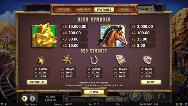 Gold Canyon screenshot