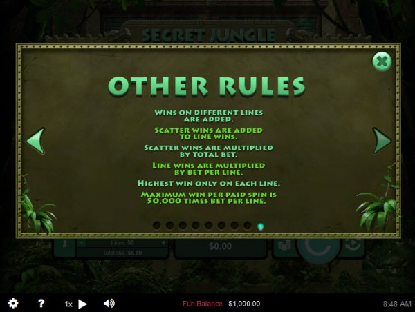 Casino Codes - General Game Rules