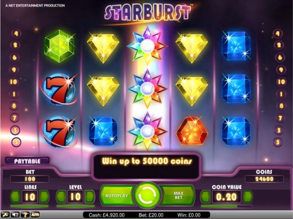 Casino Codes image of Starburst
