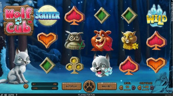 Casino Codes - An outdoor adventure themed main game board featuring five reels and 20 paylines with a $4,000,000 max payout