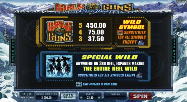 Wild symbol pays and special wild rules by Casino Codes