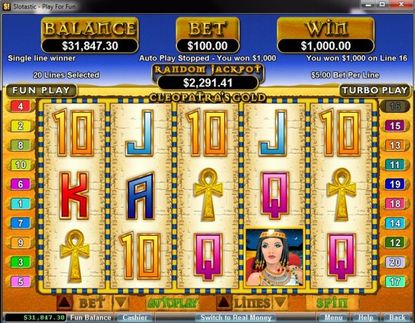 Cleopatra's Gold by Casino Codes