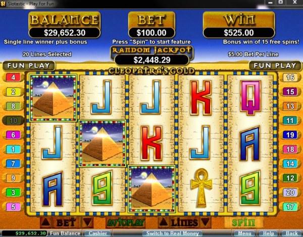 Cleopatra's Gold screenshot