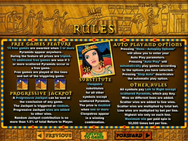 Casino Codes image of Cleopatra's Gold