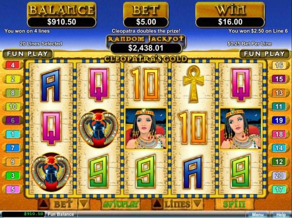Casino Codes - Four winning paylines.