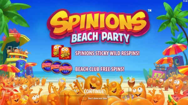 Spinions Beach Party by Casino Codes