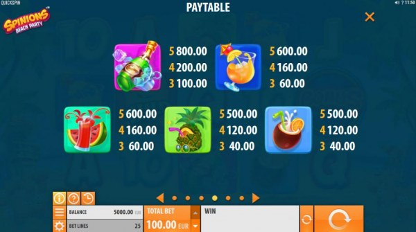 Casino Codes image of Spinions Beach Party