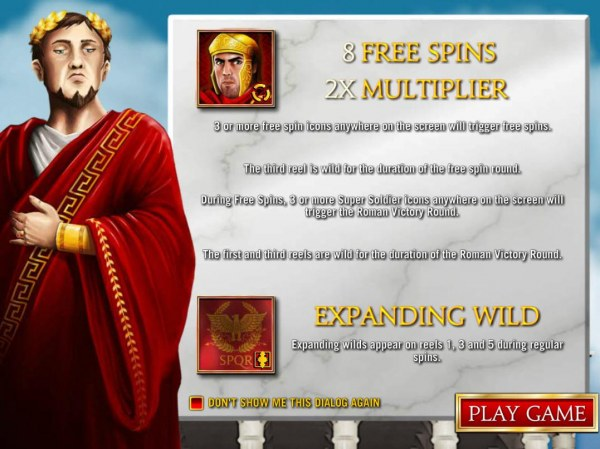 Game features include: Free Spins with 2x multiplier and Expanding Wilds! - Casino Codes