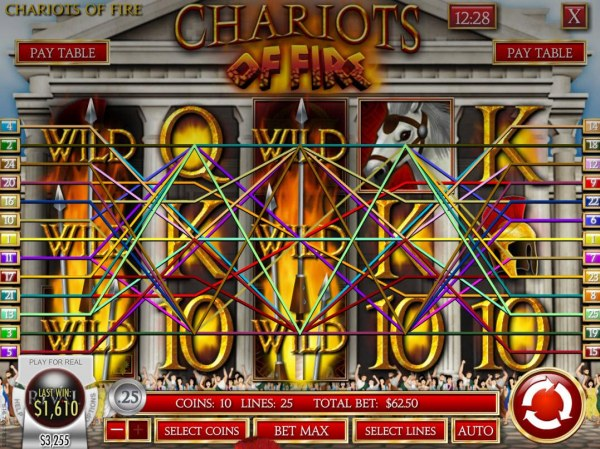 Chariots of Fire by Casino Codes